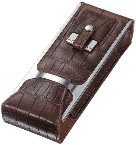 "Visol ""Alton"" Leather Cigar Case, Brown"