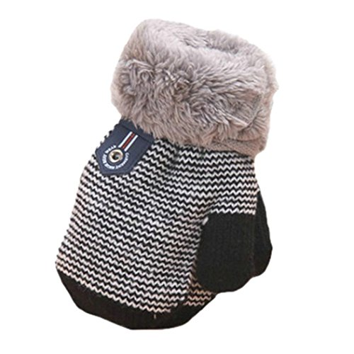 TAORE Infant Baby Girls Boys Cozie Lined Mitten (Black)