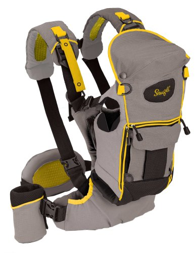 eb40e1e0a96 Cheap Hiking Baby Carrier  Evenflo Snugli Serenade Soft Carrier - Charcoal    Yellow