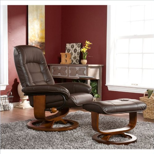 Swivel Recliner With Ottoman front-425854