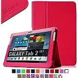 Fintie Slim Fit Folio Case Cover for Samsung Galaxy Tab 2 10.1 inch Tablet - Magenta