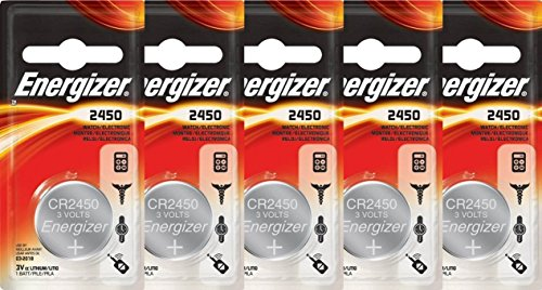 5 Energizer 2450 CR2450 ECR2450 Lithium Batteries (Car Remote Batteries Cr2450 compare prices)