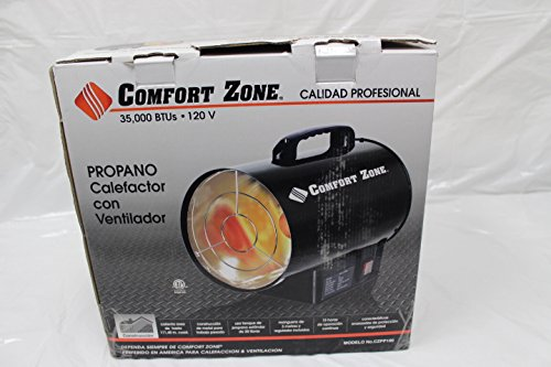 Comfort Zone Forced Air Contractor Grade Propane Heater 35,000 BTUs (Contractor 35000 Btu compare prices)