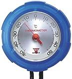 EMPEX(エンペックス) 【Amazon限定カラー】 アナログ温度計 サーモ・マックス50 クリアブルー FG-7356