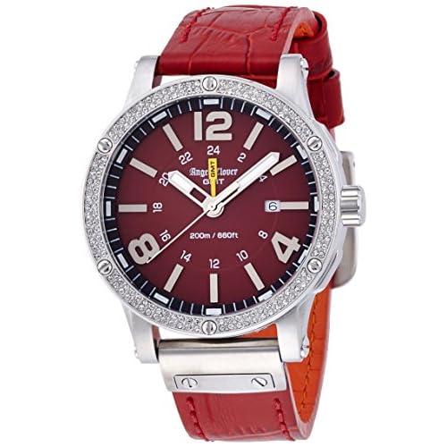 [エンジェルクローバー]Angel Clover 腕時計 エクスベンチャー レッド文字盤 500本限定 スワロフスキー 200m防水 デイト EVG46SRE-LIMITED メンズ