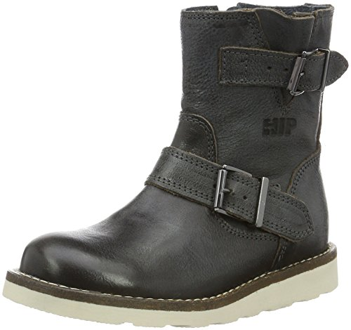 HIPH1442 - Stivali a metà polpaccio con imbottitura leggera Unisex - Bambini , Grigio (Grau (15LE)), 38 EU