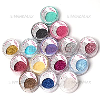Amazing Gift! USPS Shipping! 15 Warm Color Glitter Shimmer Pearl Loose Eyeshadow Pigments Mineral Eye Shadow Dust Powder Makeup Party Cosmetic Set #C