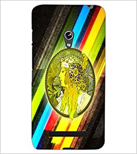 PrintDhaba Abstract Design D-5624 Back Case Cover for ASUS ZENFONE 5 A501CG (Multi-Coloured)