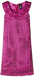 Herberto Girls' Party and Evening Dress (HRBT-DRESS-095-3_Magenta_7 - 8 years)