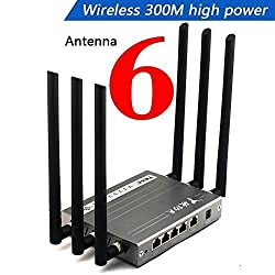 Wireless Router , Wekin High Power Megabit WIFI Router with 6x6dBi Antennas, Super Strong Signal apply to Hotels, Villas, Restaurant and other Large Area, Metal Computer Router