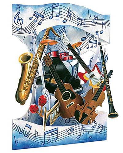 Boston International Musical Instrument 3-D Interactive Swing Greeting Card