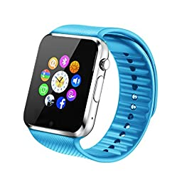 Fantime Smart Watch Phone Bluetooth SIM Smartwatch Touch Screen Wrist Watch Support Hands-free/Making calls/Pedometer/ Sleep Monitor/Facebook/Twitter/Internet for Android Smart Phones