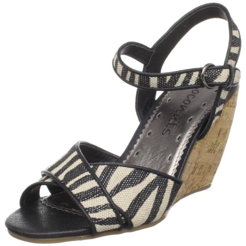 Coconuts By Matisse Women'S Zion Wedge Sandal,Zebra,9 M Us front-933510
