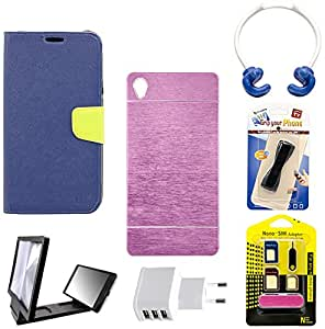 Mify Mobile Accessories Combo for Xiaomi Mi 4, Pink & Blue