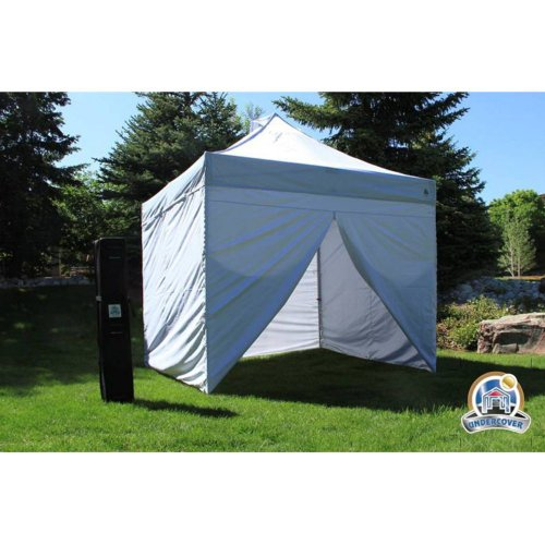 Pop Up Canopy Enclosures : Undercover pop up commerical canopy with wall