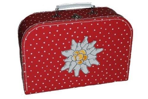 Kinderkoffer Groß rot weiße Punkte Edelweiß