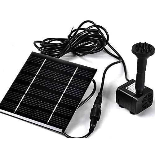 Sunnytech Solar Power Water Pump Kits - Garden Fountain Pool Watering Pond Pump Pool Aquarium Fish Tank with Separate Solar Panel and 3M Long Cable & 4 Sprayer Adapters(Black)