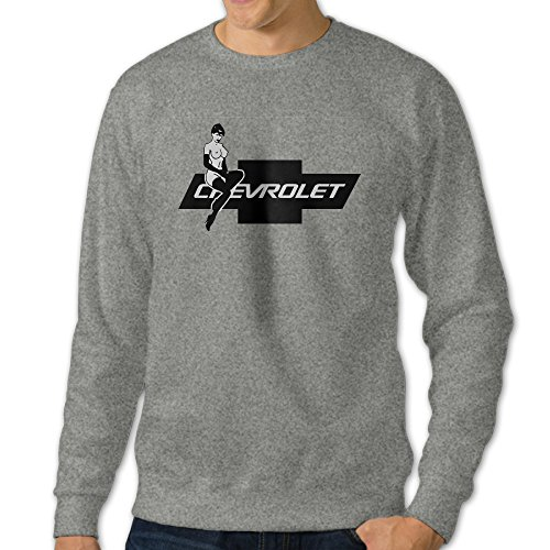 101Dog Chevrolet Hot Lady Chevy Logo Mens Pullover-sweaters XXX-Large Ash (5th Generation Camaro Accessories compare prices)