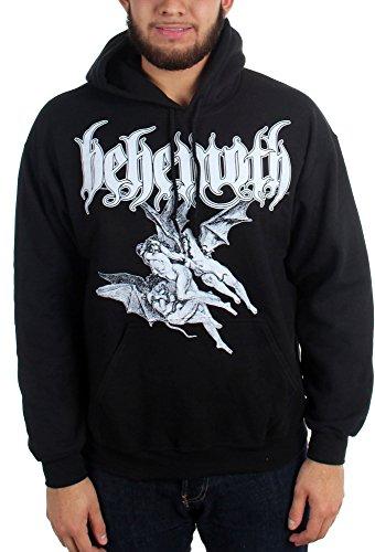 Behemoth-Short Descent-Felpa con cappuccio da uomo Nero  nero