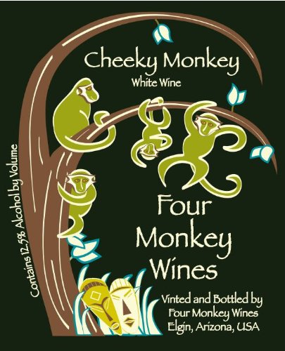 Nv Four Monkey Wines Cheeky Monkey Blend - White 750 Ml