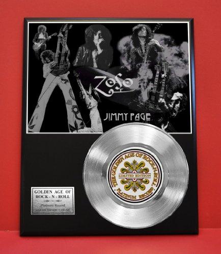 Led Zeppelin'S Jimmy Page Ltd Edition Platinum Record Display - Award Quality Music Memorabilia -