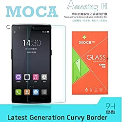 Moca(TM) Oneplus 3 Tempered Glass, Screen Protector Guard , (With Curvy EDGES) Tempered Glass Screen Protector For OnePlus 3 9H Hardness, 2.5D 0.33mm Thickness for OnePlus 3 Tempered Glass Screen Guard Protector (Screen protector) For OnePlus Three