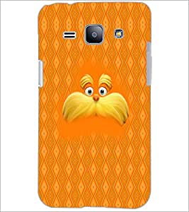 PrintDhaba Mustache D-5053 Back Case Cover for SAMSUNG GALAXY J1 (Multi-Coloured)