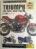 Triumph 1050 Sprint GT ST, Speed Triple R & Tiger SE Sport 2005-2013 Haynes Manual