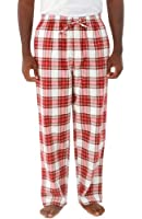 Del Rossa Men's 100% Cotton Flannel Pajama Pants - Sleep Bottoms
