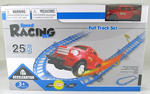 Speed Racing Set Toy with Red Truck, 25pcs