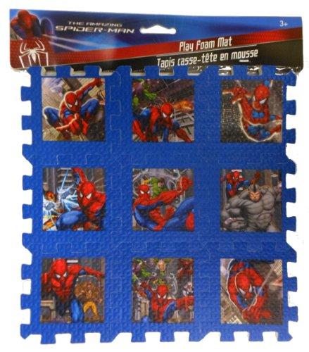 "Spiderman Foam Play Mats 9""x9"" Puzzle"