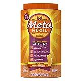 Metamucil Psyllium Fiber Supplement by Meta Orange Coarse Sugar Powder 114 Doses, 44.2 Ounce