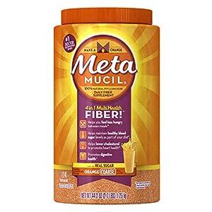 Metamucil Orange Sugar Coarse Texture Powder 114 Doses, 44.2 oz