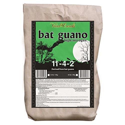 Vital Earth'S High Nitrogen Bat Guano 11-4-2, 22-Pound Bag