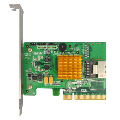 HighPoint-RocketRAID-2710-4-Port-PCI-Express-2-0-x8-SAS-SATA-6Gb-s-RAID-Controll