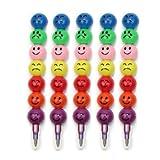 AllOff 5pcs rainbow Stacker Swap Tip 7 Colors Wax Crayon Pencil Set Filler nice gifts for Drawing