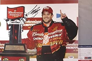 Tony Stewart Autographed Photograph - !!! HOME DEPOT 11x14 Budweiser Shootout - PSA... by Sports Memorabilia