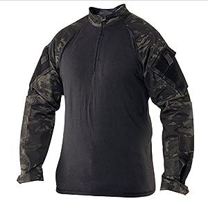 TRU-spec combatshirt 1/4 zip black camouflage