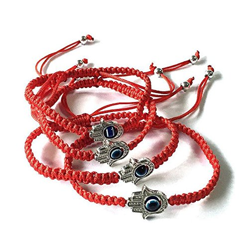 Lucky-Hamsa-Red-String-Kabbalah-Bracelets-Braided-String-and-Rotating-Evil-Eye-Hamsa-Hand-Jewish-Judaica-Amulet-Pendant-Jewelry-for-Success-and-Protectionustable-Red-String-1pc