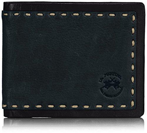 La Martina Portafoglio Uomo, 8 Carte di Credito, Verde Scuro, Suarez