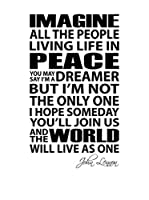 ZZ-Ambiance-sticker Vinilo Decorativo English Quote Imagine All The People…John Lennon