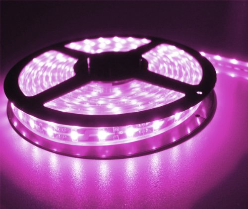 Led Light Strip Roll -16.4 Ft. (5 Meters) - 300 Pink Lights - Flexible Adhesive Backing