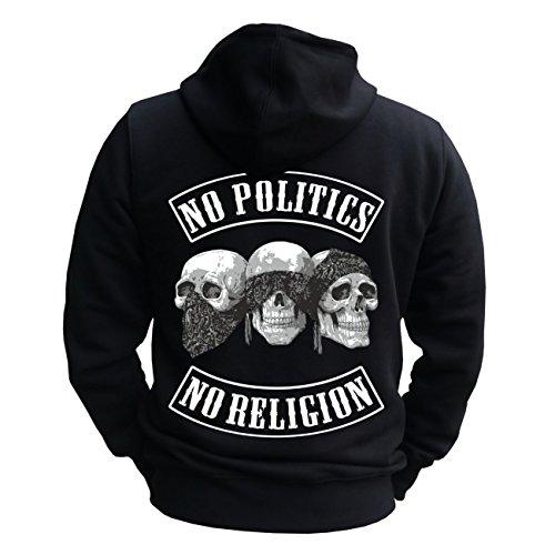 Uomini e da uomo con No politica No Religion con tasche posteriori stampa