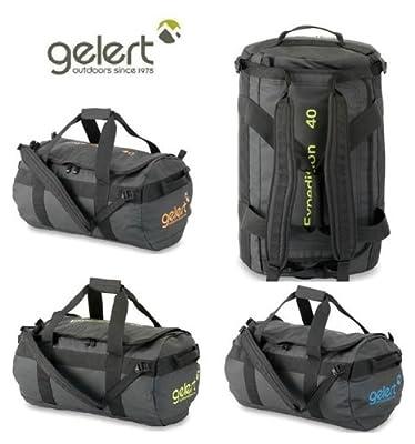 Gelert Expedition Cargo Bag - 40L Black/Lime from Gelert