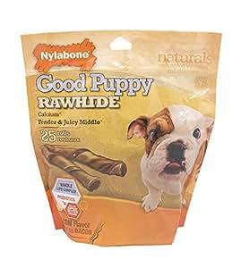 Nylabone Rawhide Bacon Flavored Roll Puppy Dog Treat Bone
