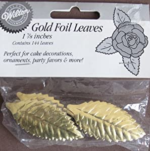 Gold Leaves Cake Decoration : Amazon.com: Wilton 1 7/8