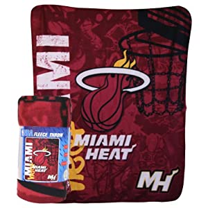 "Miami Heat ""Flames"" Lightweight Fleece Blanket (Measures 50"" x 60"")"