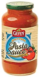 Gefen Salt Free Pasta Sauce, 26 Ounce (Pack of 12)