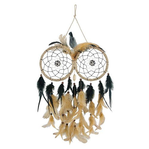 OWL FEATHERS DREAM CATCHER NATURAL 9.1875x13