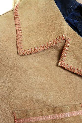 Cristiano di Thiene Blazer Leather Jacket BETA, Color: Light Brown, Size: 38